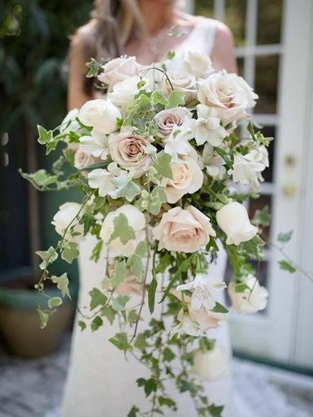Blush Cascade bouquet - CDC Floral - Napoleoni Photography, LLC