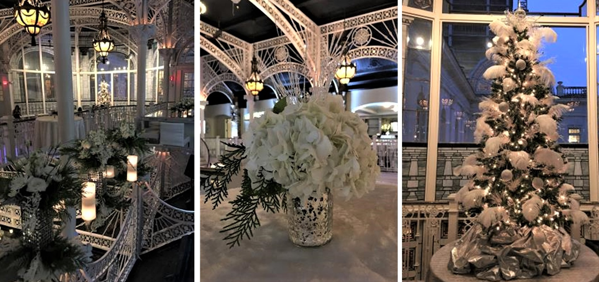 Icy White floral and silver accents - Winter Wonderland - CDC Floral
