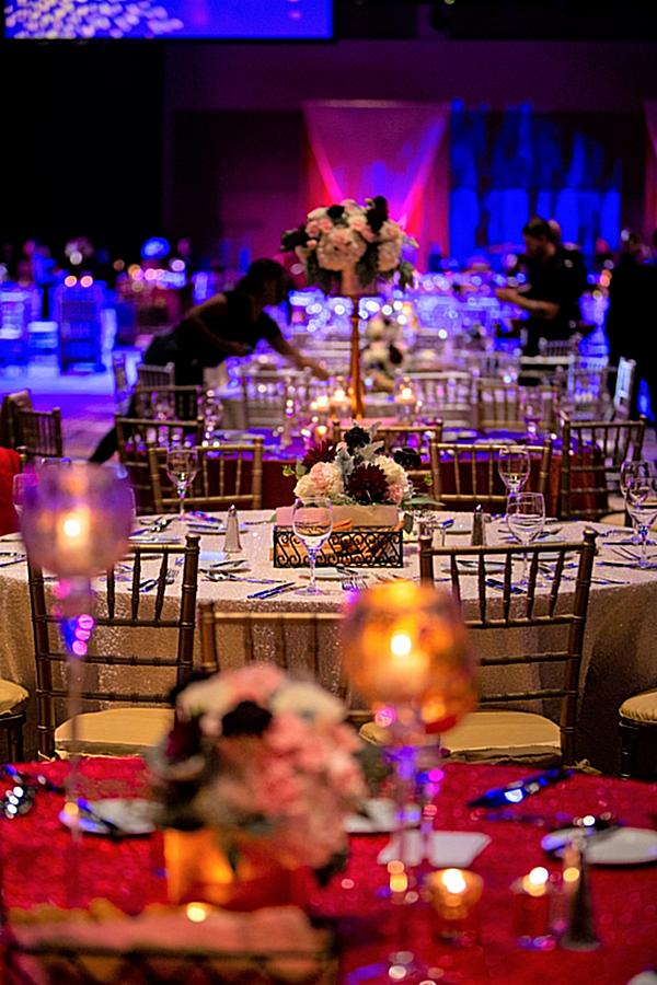 Corporate Awards Gala centerpieces